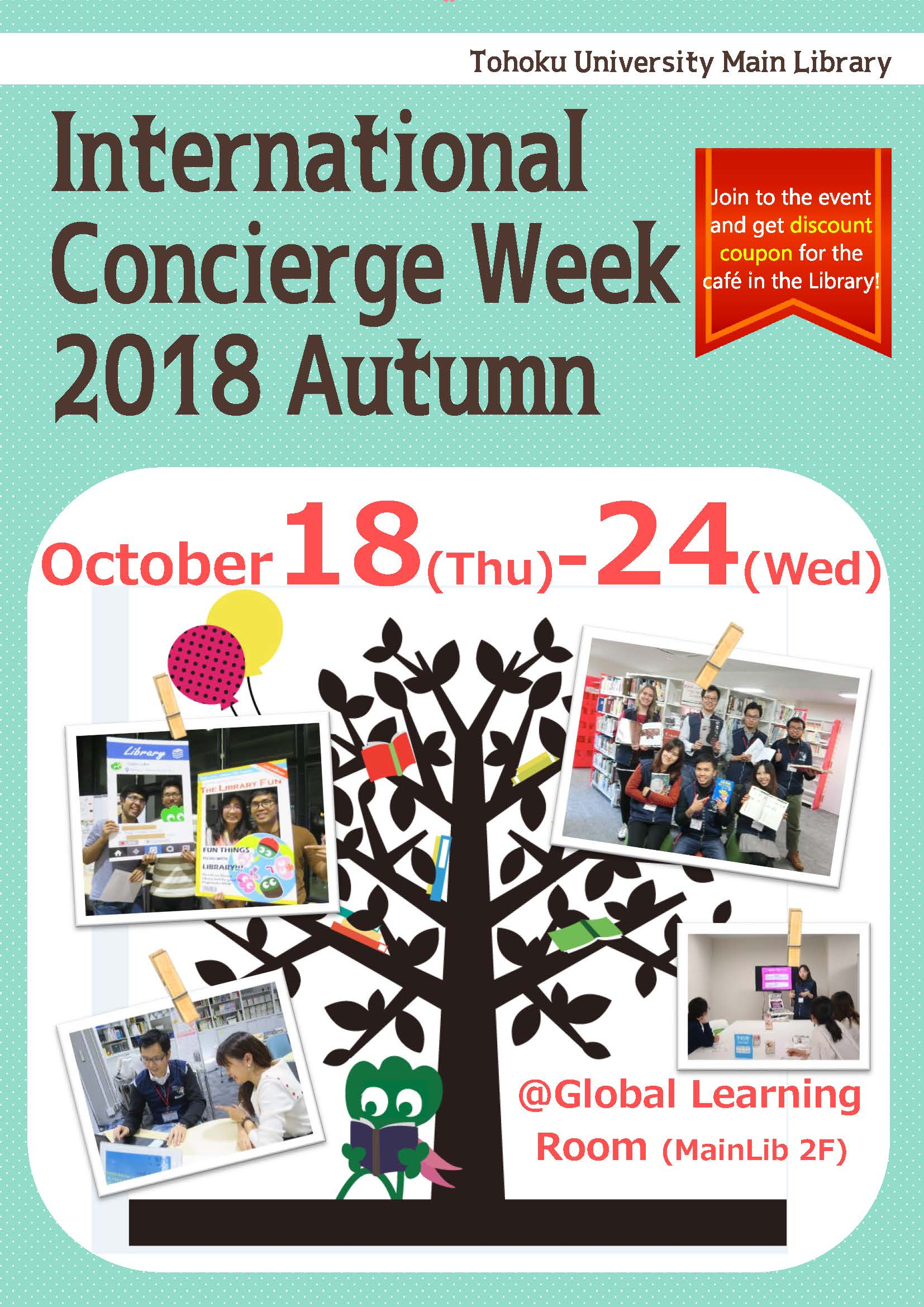 Oct  18-24 International Student Concierge Week Autumn 2018